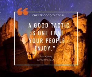 People & tactics Quote